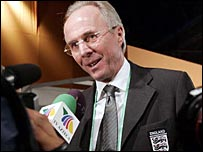 Sven-Goran Eriksson was content with England's draw