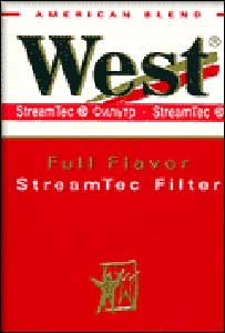 Packet of West cigarettes