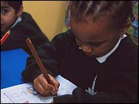 Girl at nursery school class