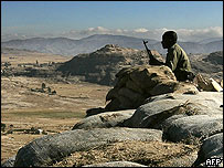 Ethiopian soldier along Eritrean border