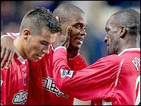 Charlton's Darren Bent celebrates