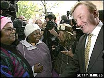 Charles Kennedy campaigning in Brent East