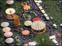 An overhead picture of the sweeps festival in Rochester