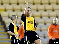 Robert Snodgrass celebrates scoring the winner