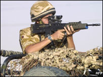 British soldier in Iraq