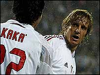 AC Milan's Kaka and Massimo Ambrosini