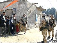 Soldados británicos en Basora
