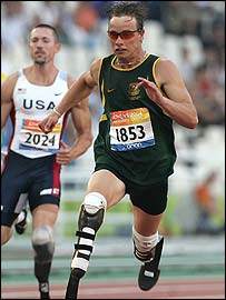 South African sprinter Oscar Pistorius