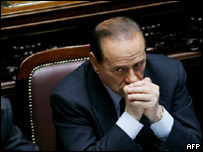 Italian Prime Minister Silvio Berlusconi (file photo)