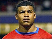 Striker Ronald Gomez