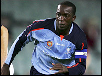 Sydney striker Dwight Yorke