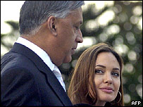 Pakistani Prime Minister Shaukat Aziz and Angelina Jolie