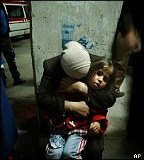 Relatives mourn the death of the two boys in Ramallah
