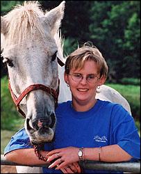 Sarah Kemp with horse Murphy