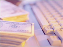 Computer keyboard and money