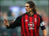 AC Milan defender Paolo Maldini