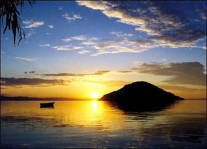 Sunset Lake Malawi, Malawi