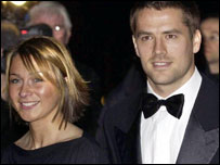 Michael Owen and Louise Bonsall