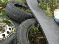 Fly-tipping rubbish