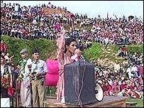 Nepal Maoist rally