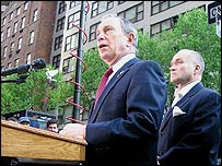 Mayor Michael Bloomberg and New York police commissioner
