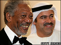 Morgan Freeman at the Dubai Film Festival
