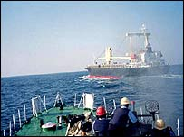 The Alondra Rainbow was seized by pirates in 1999 - International Maritime Bureau photograph