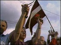 Демонстрация сторонников независимости в Латвии