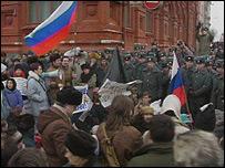 Митинг в Москве в январе 1991 года