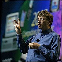 Bill Gates unveiling details of the forthcoming Longhorn operating system