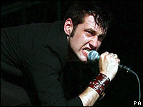 The Bravery singer Sam Endicott at Glastonbury 2005