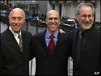 David Geffen, Jeffrey Katzenberg, and Steven Spielberg