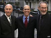 David Geffen, Jeffrey Katzenberg, and Steven Spielberg