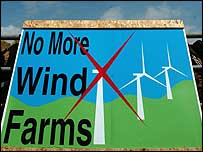 No more wind farms sign