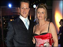 Michael Schumacher and his wife at the FIA Awards in Monaco on 9 December
