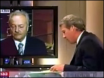 George Galloway and Jeremy Paxman