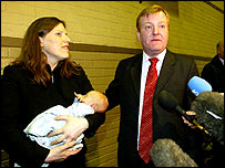 Charles Kennedy with wife Sarah and son Donald