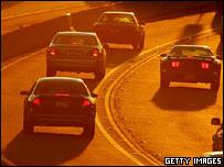 Cars on freeway (Getty)