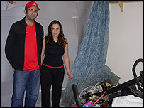Becky Vernon and Chris Micklewright's room