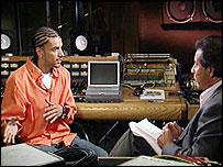 Corey Clark is interviewed by ABC's John Quinones