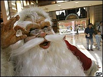 Santa doll in a Buenos Aires mall