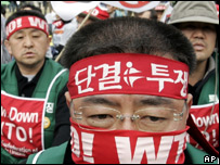 Protesters from South Korea