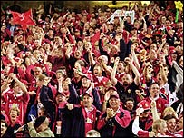 Lions fans turned Brisbane into a sea of red in 2001
