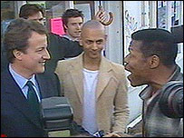 David Cameron meets a supporter