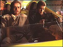 Ewan McGregor and Hayden Christensen in Attack of the Clones