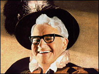 Ronnie Barker as Caravaggio's The Fortune Teller