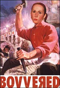 Catherine Tate features in a Chinese Cultural Revolution poster