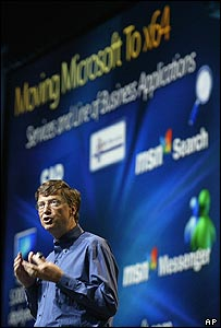Bill Gates at the Microsoft Hardware Engineering Conference in Seattle
