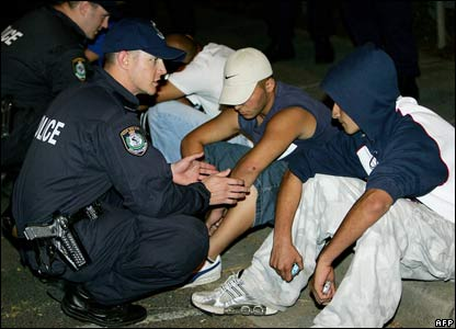 Detained men in Sydney