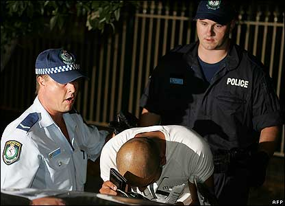 Detained man in Sydney